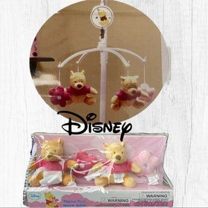 Disney Pooh Musical Mobile Brahms Lullaby Pink NEW
